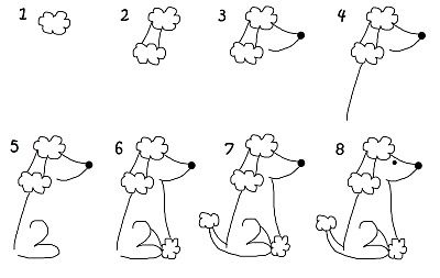 How to draw poodle