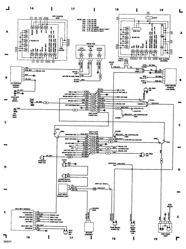 1988 Chevrolet  Fuse Block  Wiring Diagram  20 Van  V