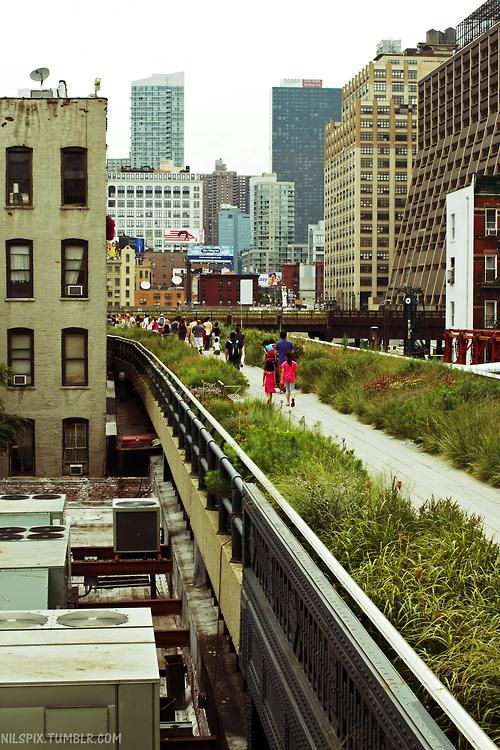 HighLine NYC Park/Garden Park On Top Of An Old L Train