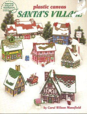 Holiday Free Plastic Canvas Patterns   CANVAS FREE PATTERN PLASTIC VILLAGE - Patterns Gallery