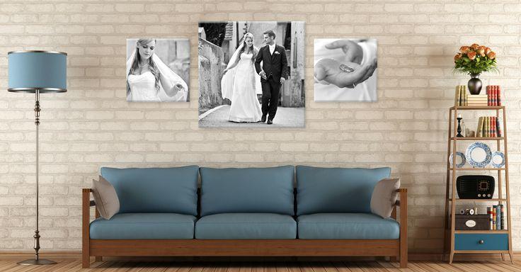 Dein Hochzeitsfoto auf Leinwand ab 5€