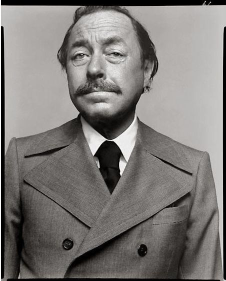 Tennessee Williams (photograph by Richard Avedon, 1969)...can someone tell me why Kevin Spacey has not played him in a movie?