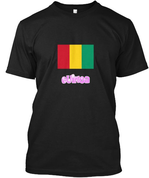 Guinea Flag Pink Flower Design Black T-Shirt Front - This is the perfect gift for someone who loves Guinea. Thank you for visiting my page (Related terms: I Heart Guinea,Guinea,Guinean,Guinea Travel,I Love My Country,Guinea Flag, Guinea Map,Guinea Languag #Guinea, #Guineashirts...)