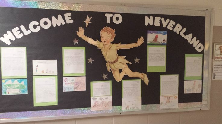 Art Decoration For Classroom ~ Neverland bulletin board for the book peter pan