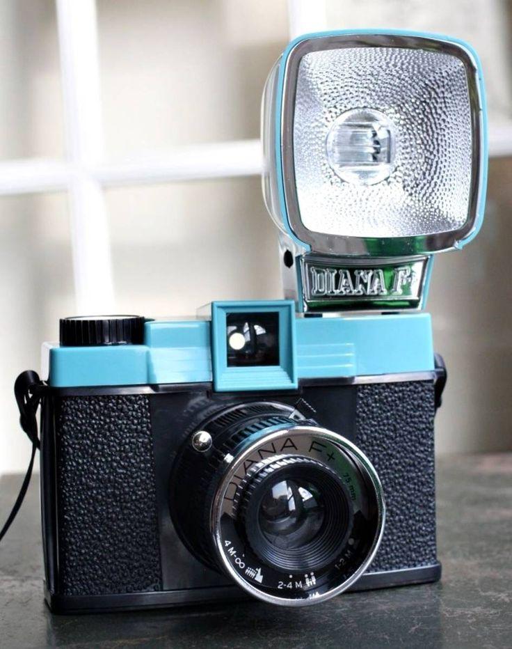 diana f+ com flash, lente fisheye e splitzer! - lomo diana f+
