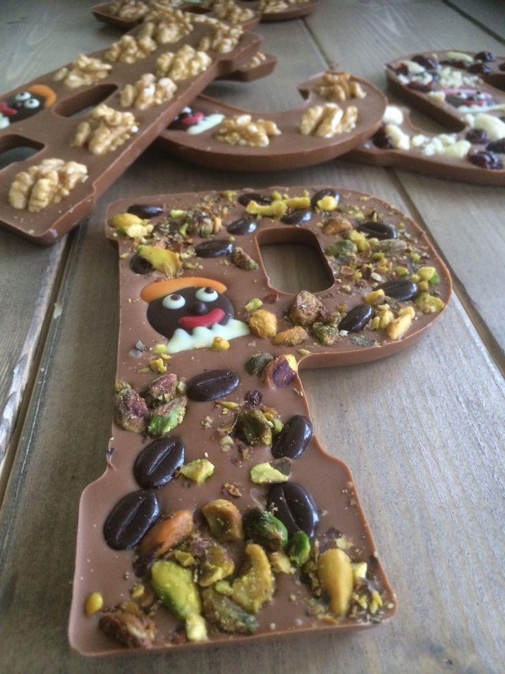 Chocoladeletter pistache