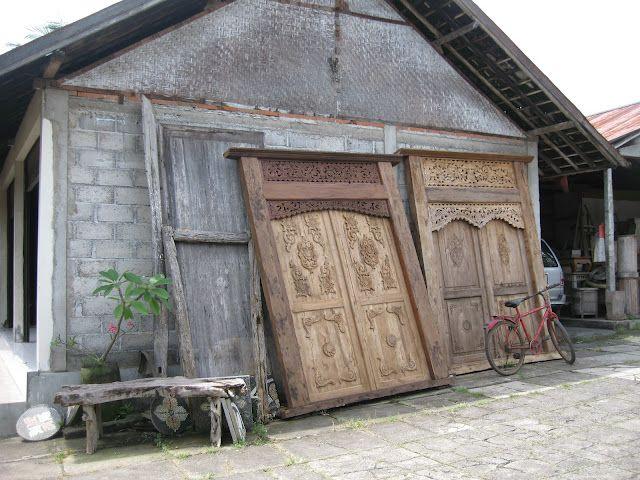 Balinese carved wooden doors