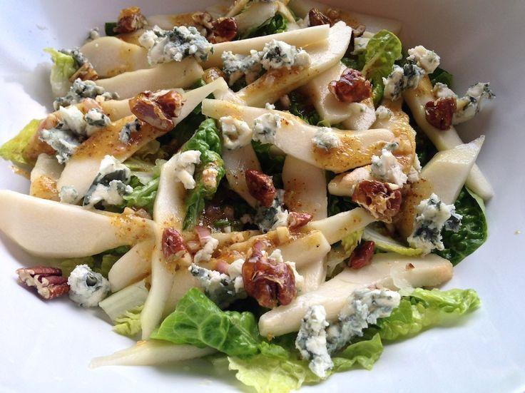 Salade met peer en roquefort