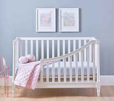 blythe spindle toddler bed conversion kit vintage simply white