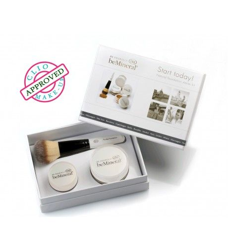 Start Today Kit - Bemineral Contiene fondotinta 100% minerale , illuminante in polvere libera , pennello per applicazione. Scoprilo qui : http://www.mybeautyweek.it/shop/52-fondi-basi-correttori