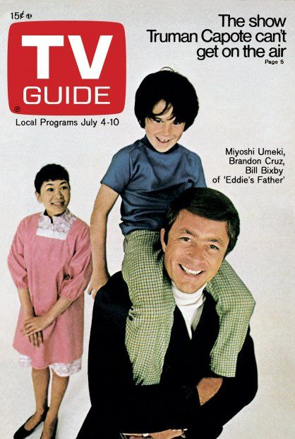 TV Guide July 4, 1970 - Miyoshi Umekim, Brandon Cruz and Bill Bixby of The Courtship of Eddie's Father.