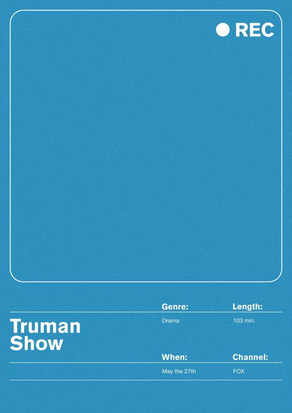 The Truman Show (1998) ~ Minimal Movie Poster by Maciej Zelaznowski