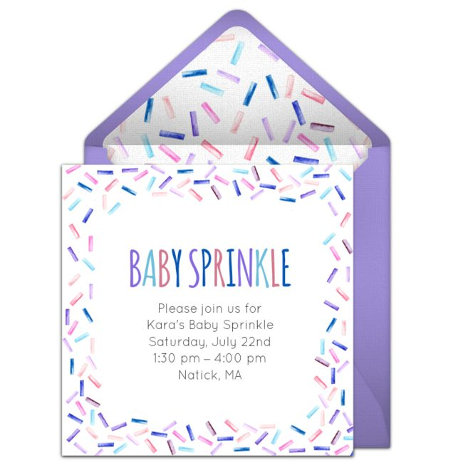 Customizable, free Baby Sprinkle online invitations. Easy to personalize and send for a baby sprinkle. #punchbowl