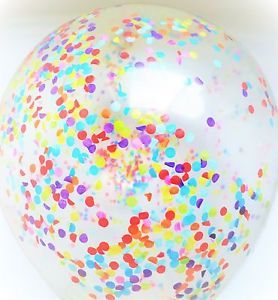 Rainbow Party Giant Jumbo Clear Balloon Multi Confetti. Purchase now on our EBay store!