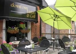 Downtown Bistro in Burlington!  If they ever have the Banana Foster Bread Pudding get it.