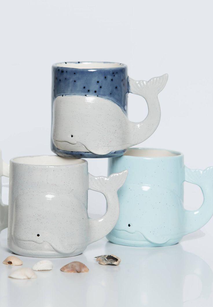 Whale Mug Handmade Large Ceramic Coffee Mugs