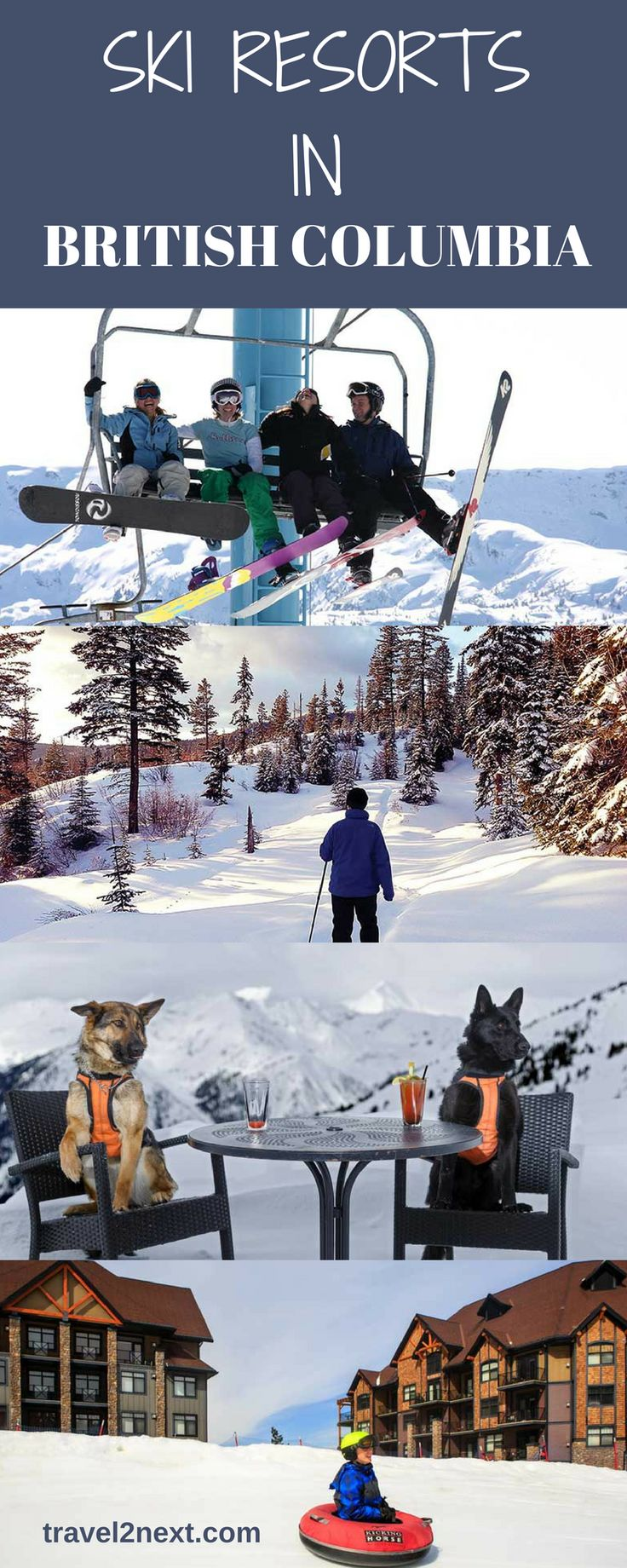 Ski resorts in British Columbia, Canada | Ski Canada. Winter is a magical time of year to visit British Columbia in Canada. When snow falls, it's a white winter wonderland.