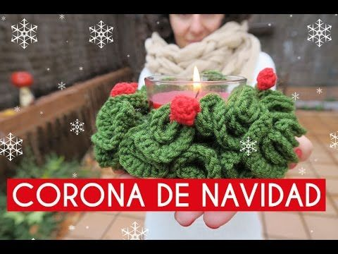 Corona de Navidad ganchillo | Crochet wreath - YouTube