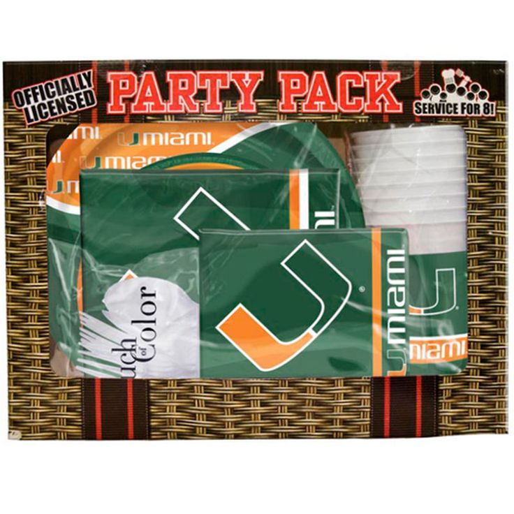 Miami Hurricanes Game Day Party Pack