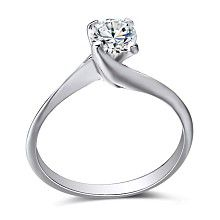 Gold engagement ring with 0.45ct diamond