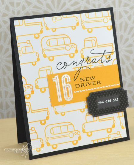 New Driver Card by Nichole Heady for Papertrey Ink (June 2013)