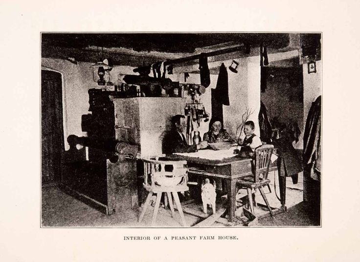 1929 print czech republic peasant family farm house interior view historic xgda5 products. Black Bedroom Furniture Sets. Home Design Ideas