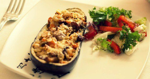 887 best food network recipes images on pinterest thai food boats eggplant with mushrooms recipe forumfinder Gallery