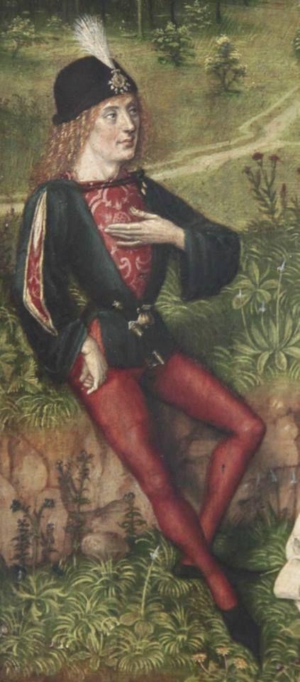 Allegorie auf Leben und Tod, um 1480, Oberrhein  GNM Nürnberg