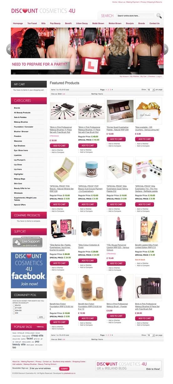 UK Cosmetics Store in Magento