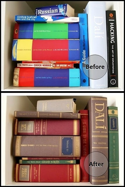 How To Make A Book Dust Cover : Make your own quot classic book dust covers to hide ugly