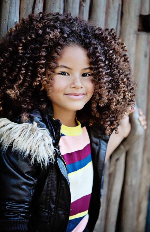 Curl power from Sade Kimora Young...beautiful little girl ...