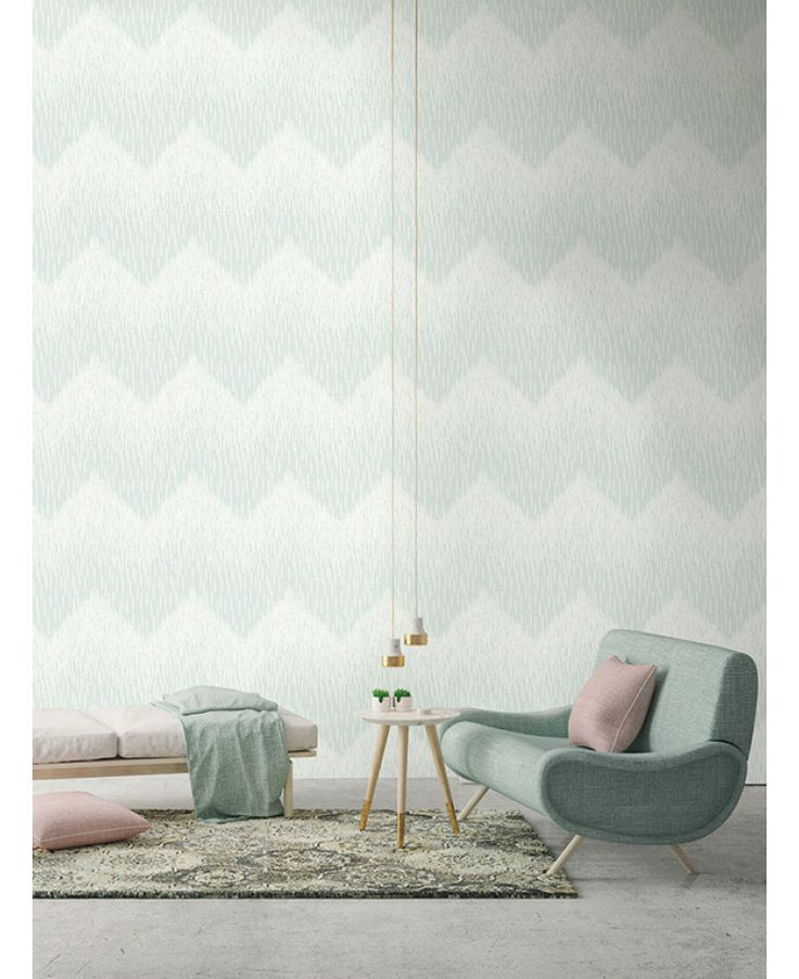 This Fragment Chevron Wallpaper in tones of soft teal features a fragmented style chevron pattern with a pretty ombre effect. Free UK delivery available