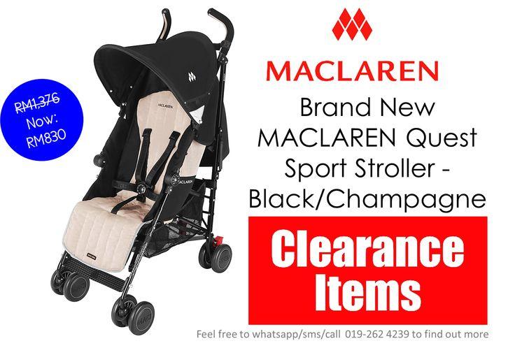 CLEARANCE! Brand New MACLAREN Quest Sport Stroller Black