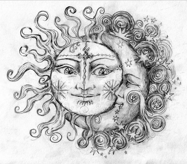 sun and moon art | sun_and_moon_by_6vladimira6-d5v6bor.jpg (800×700) | Tattoos