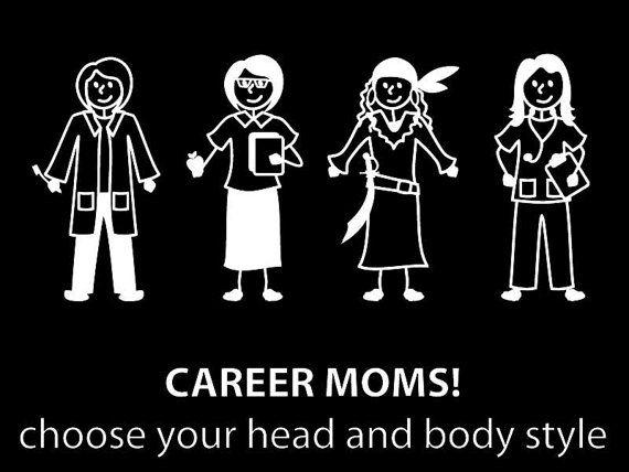Career mom sticker customize your mom stick family car decal