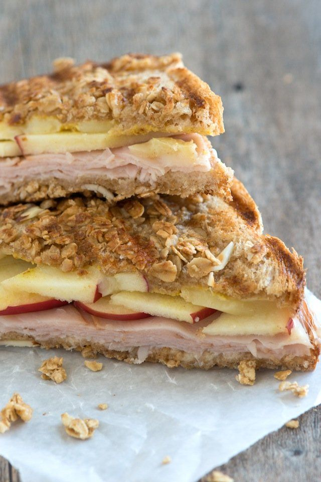 Granola Crusted Apple, Turkey and Cheddar Panini | Recipe | Paninis ...