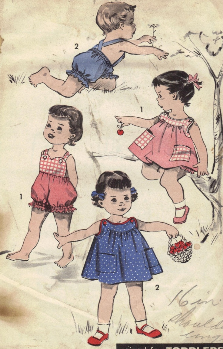 Toddler Romper, Sunsuit, Dress Vintage 1950s