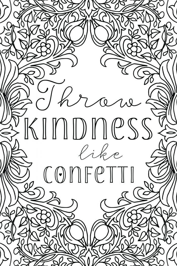Free Printable Uplifting Colouring Pages to lift your mood ... | free printable colouring pages quotes