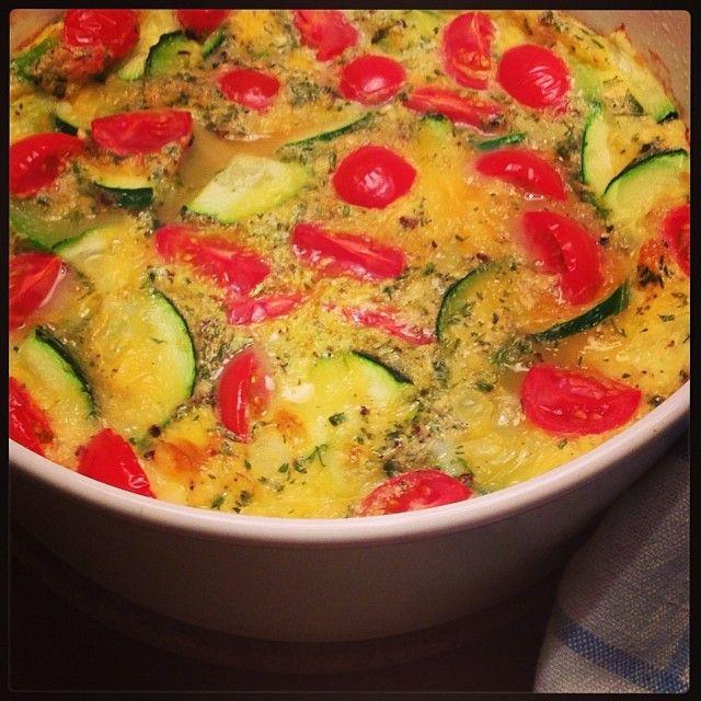 Rezept für einen Zucchini-Quiche ohne Boden  