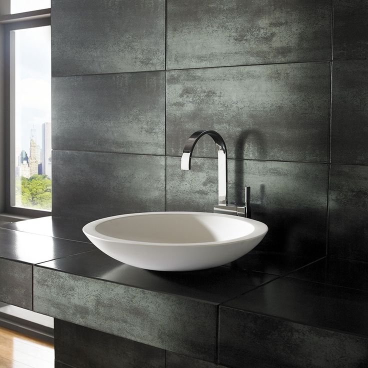 Beautifully Simple 51.5cm Round Deva Pure White Solid Surface Countertop Basin
