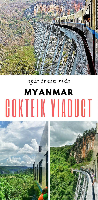 Epic train ride along Myanmar's Gokteik Viaduct | train travel | Burma | Slow train | Asia train adventure | #SoutheastAsia #Myanmar