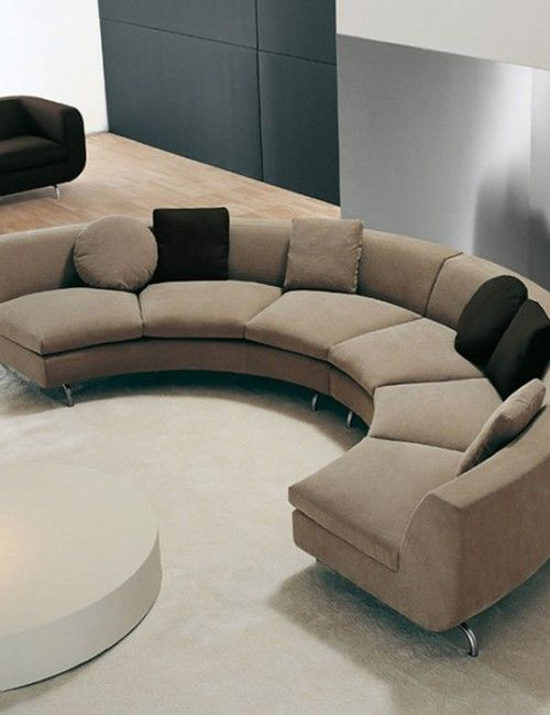 1703 best sofas futons images on pinterest canapes for Curved sectional sofa for small space