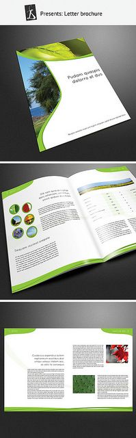 fresh brochure design, graphic shapes