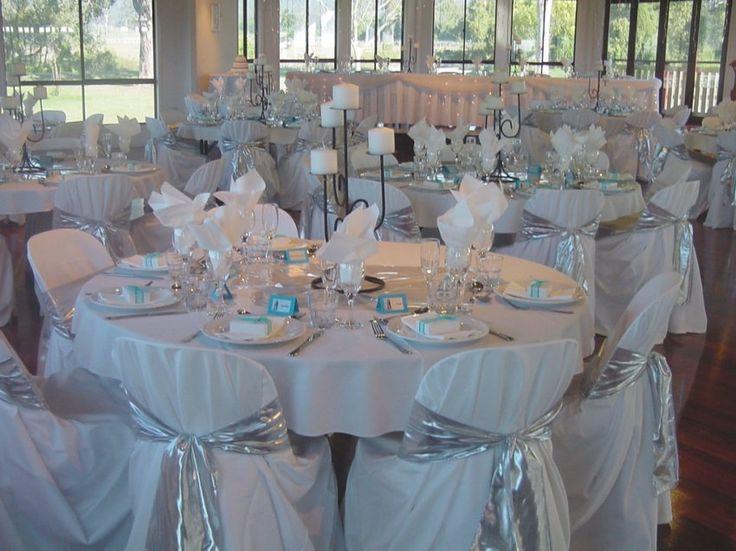 28 best silver decor wedding images on pinterest decor wedding 33 stunning baby blue and white wedding decorations junglespirit Images