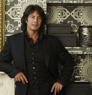 Like his design, LOVE his shirt cuffs. If I was a man I would dress like him. Laurence Llewelyn Bowen.