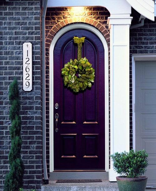 15 Fabulous Designs For Your Front Entry: Purple Front Door. For More Ideas On Fabulous Colors For