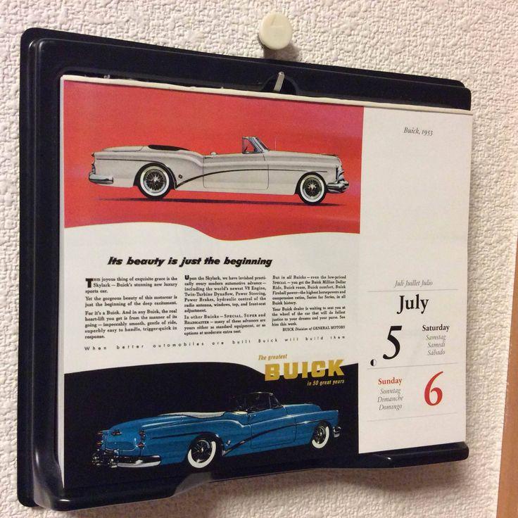 July 5/6: Buick 1953 1903年に誕生したビュイックの50周年に生まれたスカイラークというクルマ。ラグジュアリースポーツカーにふさわしい優美なデザイン。