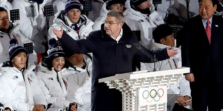 IOC president Thomas Bach took a shot at Russian doping during his speech at opening ceremony