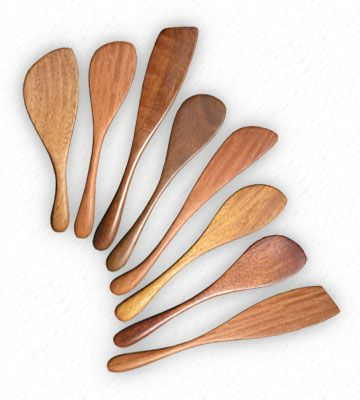 Wooden stirrers - spurtle - spatula - spraddle - in Australian hardwoods for your home, your kitchen - great for entertaining and dinner parties. Wood stirrer by Bob Gilmour, Forest Treasures, Port Douglas, Australia.