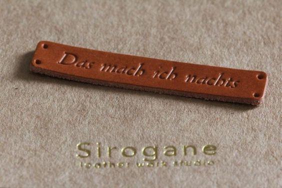 Individuelle Etiketten und Leder-Label bestellen | www.das-mach-ich-nachts.com | Bloglovin'